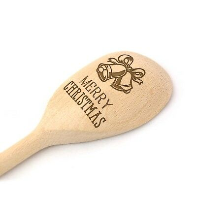 Christmas Wooden Baking Spoon - Engraved Present Gift