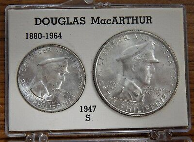 1947-S Philippines 2 Coin Silver BU Set