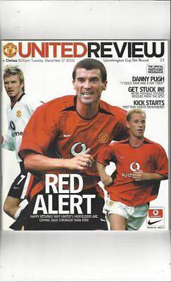 Manchester United v Chelsea Worthington Cup 2002/03 Football Programme