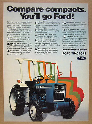 1981 Ford 1700 Diesel Tractor color photo vintage print Ad