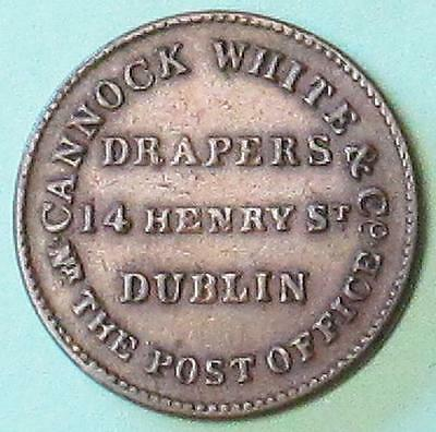 Ireland:  Unofficial Farthing.  Cannock White & Co., 14 Henry Street. Dublin.