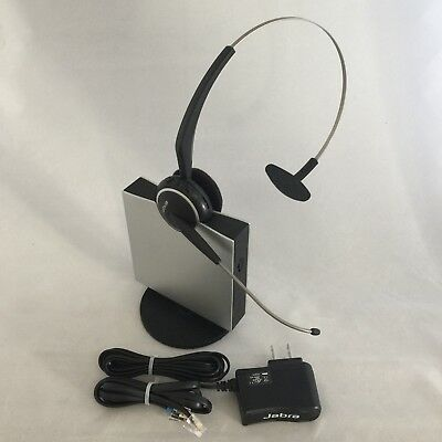 Jabra GN9120 GN9125 Wireless Headset w/ Charger, Phone Cable & Power Adapter