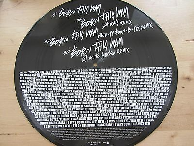 "12"" PICTURE DISC *** LADY GAGA ***  born this way"