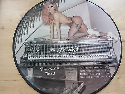 "12"" PICTURE DISC *** LADY GAGA ***  yoü and I"