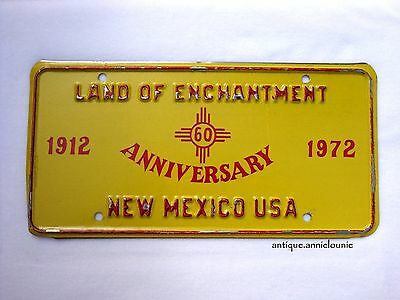 1912-1972 NEW MEXICO Vintage License Plate 60 ANNIVERSARY