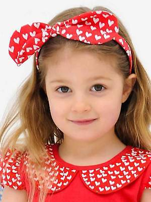 Bow Headband Red Flutter Heart