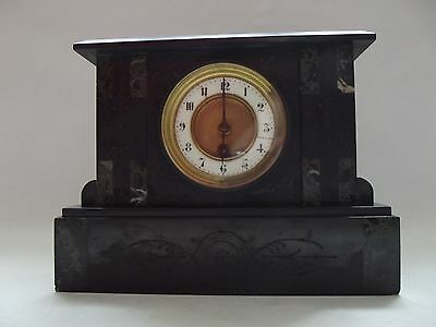 19th Century Slate Mantle Clock With French Movement.