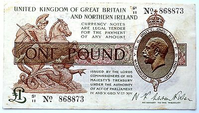 1927 Third Issue £1 Treasury Note Warren Fisher.          J2