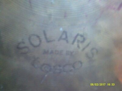 """tosco / solaris 14"""" high hat bottom,made in italy."""