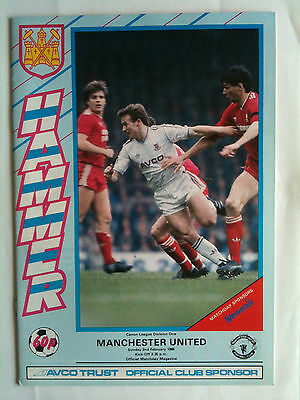 1985/86 West Ham United v Manchester United FA Cup 5th Rd
