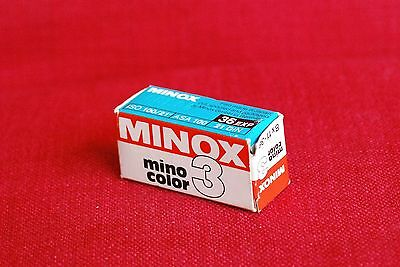 Minox Mino Color 3, 36 Exp, 8mm Spy Film - Expired Oct/94