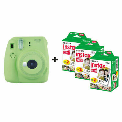 Fujifilm Instax Mini 9 Instant Camera with 60 Shots - Lime Green