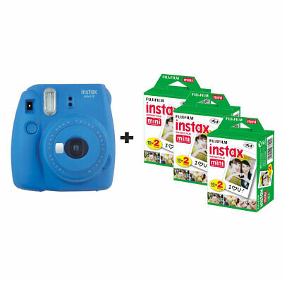 Fujifilm Instax Mini 9 Instant Camera with 60 Shots - Cobalt Blue