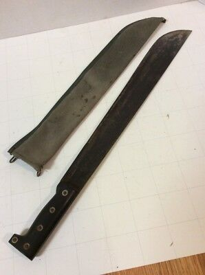 VTG Nesco Machete Made in Japan w/ Sheath 18 inch Blade Jungle Knife