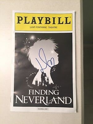 Finding Neverland Playbill SIGNED by Laura Michelle Kelly- July 2015