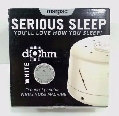 Serious Sleep by Marpac - White Dohm Classic - White Noise Machine - New in Box