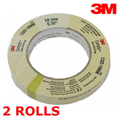 TWO 3M Comply 18mm Steam Indicator Autoclave Tape 50ft Roll Sterilization Tattoo