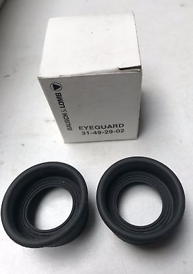 Lot of 2 Bausch And Lomb Eye Piece Microscope Eye Guards 31-49-29-02 Eyeguard