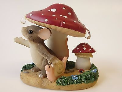 Charming Tails IN EVERY LIFE A LITTLE RAIN MUST FALL Figurine Fitz & Floyd MOUSE
