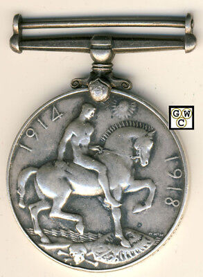 WWI Medal Named To 3208474 PTE. M. O'Hara A.R. (OOAK)