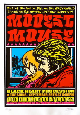 Modest Mouse Poster w/ The Shins & Black Heart Procession 2000 Concert