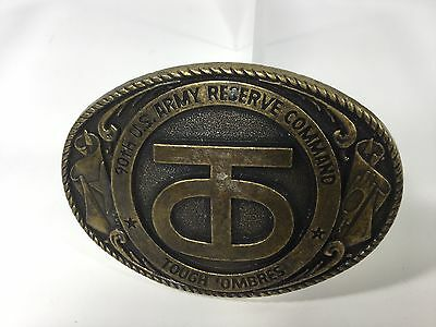 """90th U.S. Army Reserve Command """"TOUGH 'OMBRES"""" Belt Buckle"""