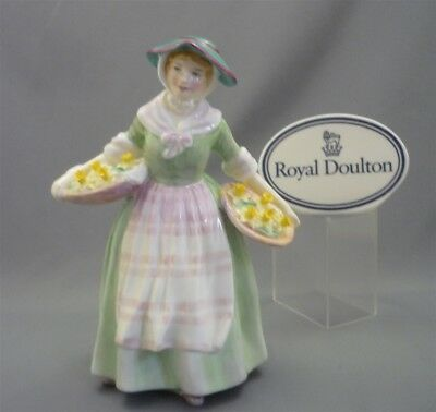"""DAFFY DOWN DILLY"" Royal Doulton England Bone China Lady Doll Figurine HN 1712"