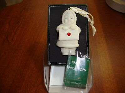 Dept. 56 Snowbabies  Bisque Orn. SEALED WITH A KISS #69062