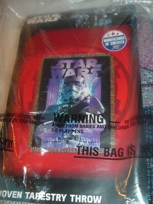 Northwest Woven Tapestry Star Wars Throw still in package