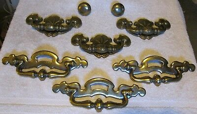 Complete Vintage Set Of Hardware For Chest & Drawers Pulls Handles Knobs