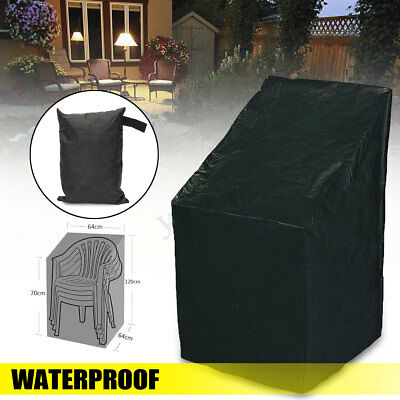 Waterproof High Back Chair Cover Furniture Protection Cover Outdoor Patio Garden