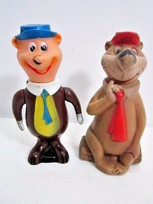 Vintage 1960's Hanna-Barbera Yogi Bear Dell Squeak Toy & Japan Vinyl Figure Toys
