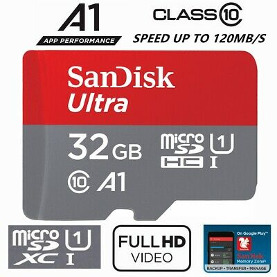Micro SD Card 32GB SanDisk Ultra Class 10 SD Mobile Smart Phone Camera A1 98Mb/s