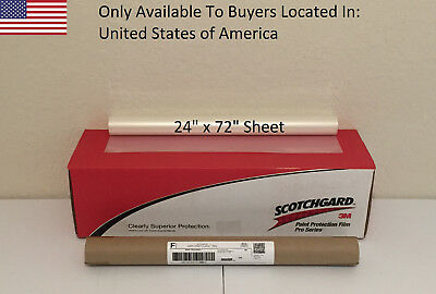 "3M Scotchgard PRO Series Paint Protection Film Clear Bra 24"" x 72"" Sheet"