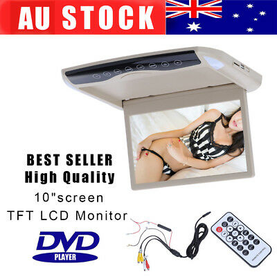 10 Inch Flip Down TFT LCD MP5 Monitor With DVD Player Car Roof Mount Monitor AU
