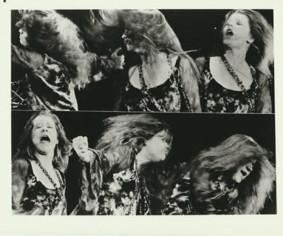 Janis Joplin VTG B/W Promo 8x10 Photograph Rock Photo Big Brother Holding Co