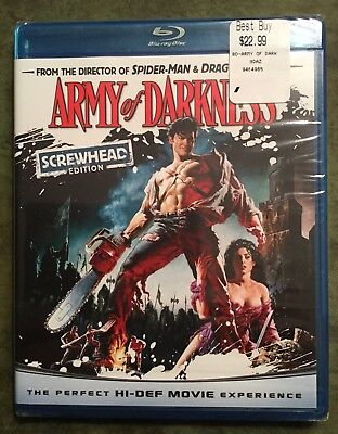 Army of Darkness Screwhead Edition Blu-Ray New Sam Raimi Bruce Campbell EvilDead