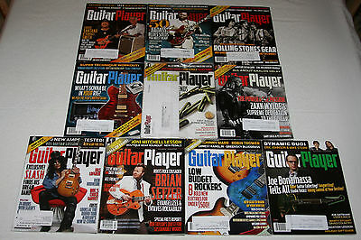 Lot of 10 Guitar Player Magazine 2014 - Heavy Metal Music News