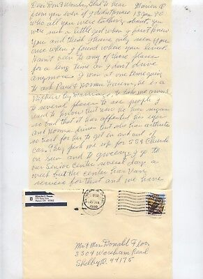 1990 Marion Ohio Personal Letter Mail Written by 91 Year Old Lady Blanche Daum