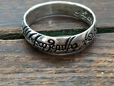 "SOLID Sterling Silver .925 Fantasy ""Lord Of The Ring"" RING BAND 5.3 gr SIZE 14.5"