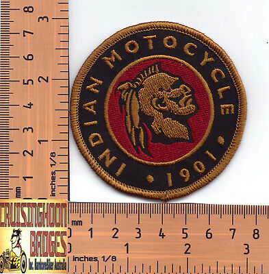 Retro Indian Round Embroidered Badge / Cloth Patch