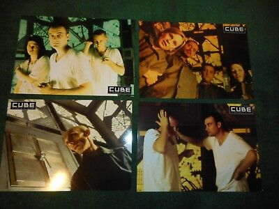 Cube - Original Set Of 8 French Lobby Cards - 1998