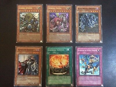 Lot of 6 Exclusive Movie Pack Yugioh Cards Andro Sphix Teleia
