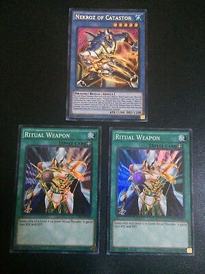 Lot of 3 The Secret Forces Yugioh Cards THSF Nekroz of Catastor + Ritual Weapon