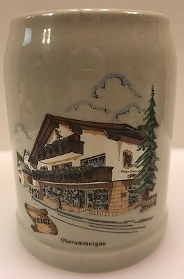 Oberammergau Germany Heigl Beer Stein 0.5 L