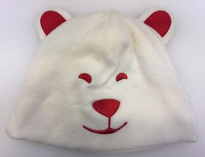 Coca Cola Polar Bear Face White Winter Ski Hat Cap Arctic Home 2012