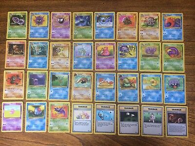 NEAR MINT COMPLETE Set of Fossil Pokemon Cards Uncommons/Commons ONLY