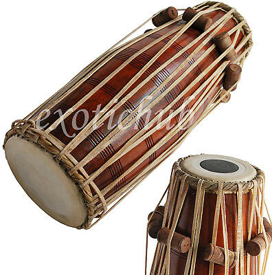 New Pakhawaj Drums~Hand Made Indian~Professional Quality~Full Size~Great Sound