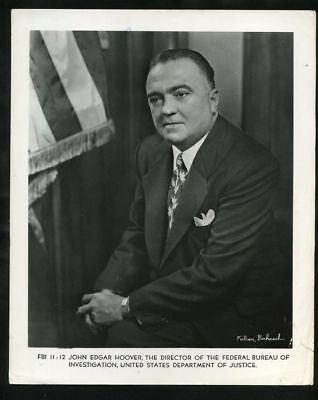 1950s J EDGAR HOOVER Portrait by Fabian Bachrach Vintage Original Photo gp