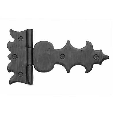 """7.5"""" Rustic Iron Spear Strap T Hinge For Doors, Gates & Furniture Hand Forged"""